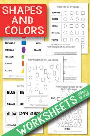 shapes and colors worksheets itsy bitsy fun