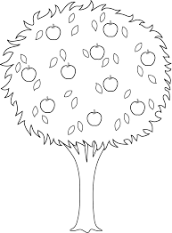 apple tree coloring pages u2013 barriee
