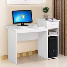 Small Wood Computer Desk With Drawers Go2buy Modern Home Office Small Wood Computer Desk