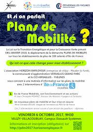 chambre de commerce et d industrie ile de 6 octobre 2017 réunion d information plans de mobilité avec ile