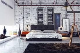 chambre loft papier peint imitation brique dans la chambre à coucher cozy room