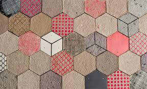 air molded recycled paper tiles redefine wallpaper