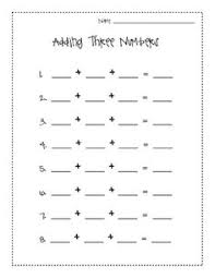 add all three adding three numbers addition worksheets