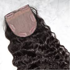 top closure indus curly clip on top closure hairpiece