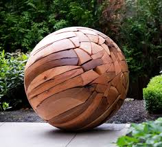 shattered sphere 2011 reclaimed wood by brent comber repinned