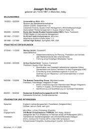Lebenslauf Vorlage Excel Lebenslauf Beispiele Und Vorlagen Zum