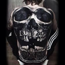20 evil tattoos on back