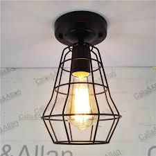Edison Ceiling Light New Vintage Retro Edison Ceiling Light Bulb Iron Guard Wire Cage