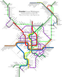 San Francisco Streetcar Map Greater Washington Transit Future A Multimodal Fantasy Map