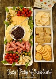Tasty Dinner Party Recipes - easy party cheeseboard recipe food brunch and snacks