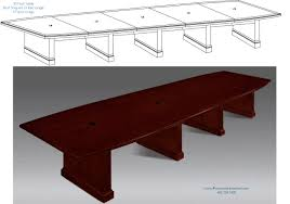 5 foot conference table 20 foot conference room table with grommets wire management