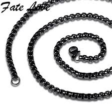 necklace for us 9 5 fate newest gold black chains necklace for men