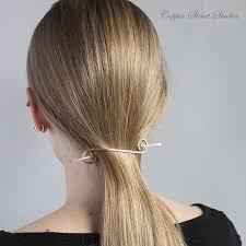 hair barrette bar hair barrette plain copper hair clip minimalist metal hair