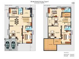 villa plans pretty inspiration ideas 12 duplex house plans for 60x40 site
