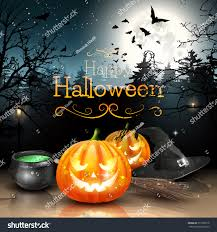 halloween decorations spooky forest stock vector 317398118