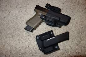 glock 22 light bearing holster bravo concealment bc d o s drop out of sight holster covert