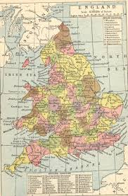 Map Of Wales England by Map Of England And Wales Counties Towns And Rivers Between 1864