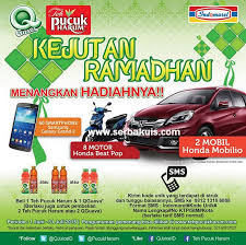 Teh Pucuk Harum Di Alfamart kejutan ramadhan indomaret berhadiah 2 mobil honda mobilio