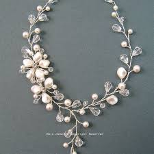 wedding necklace pearls images Pearls bridal necklace ivory wedding necklaces bridal jewelry jpg