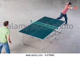 Table Tennis Boardroom Table Two Men Playing Table Tennis Stock Photo Royalty Free Image