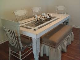 shabby and fabulous harvest dining table u0026 4 chalk paint chairs