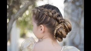 updos cute girls hairstyles youtube dutch braided bun updo cute girls hairstyles youtube