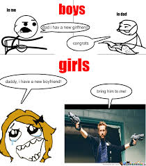 Boy Girl Memes - difference between boys and girls by idontreallycare meme center