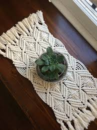 table runner or placemats macrame table runner dining room macrame table runner modern