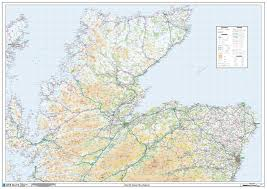 Dundee Scotland Map Scotland South East Wall Map Poster Westeurope Countries