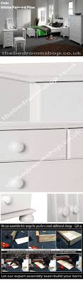 White Painted Pine Bedroom Furniture Oslo White Pine Bedroom Furniture By The Bedroom Shop Assembled