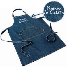 tablier de cuisine professionnel personnalisé de cuisine en jean brodé à personnaliser