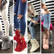 ankle boots uk ebay womens wedges trainers sneakers ankle boots shoes hi