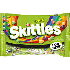 skittles fun size sour candy 7 5 oz 14ct walmart com