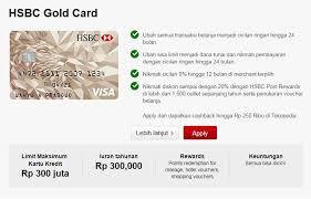 persyaratan buat kartu kredit hsbc keuntungan syarat dan cara mengajukan kartu kredit hsbc secara