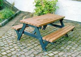 picnic tables recycled plastic eco friendly sustainable outdoor