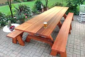 Free Plans To Build A Octagon Picnic Table by Redwood Tables U0026 Patio Furniture Forever Redwood