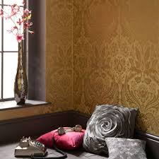 Red Damask Wallpaper Home Decor Peelable Paper Wallpaper Wallpaper U0026 Borders The Home Depot