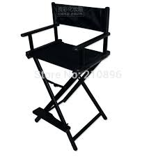 portable makeup chair with side table aluminum directors chair tall portable salon director chair artist