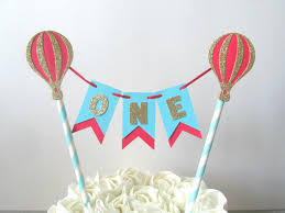air cake topper up up and away cake topper hot air balloon cake topper and