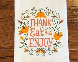 thanksgiving towel etsy