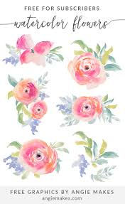 Watercolor Flowers - watercolor flowers clip art angiemakes com
