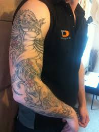 koi dragon fish tattoo right arm sleeve by spinksy777 on deviantart