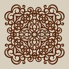 floral ornament the template pattern for decorative panel a