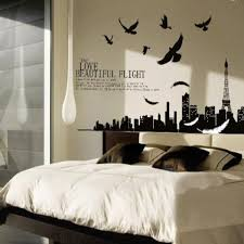 Eiffel Tower Wall Decals Family Love Life Quote Wall Sticker Removable Art Vinyl Home Decal