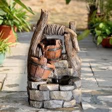 jeco inc resin fiberglass tree trunk and pots water