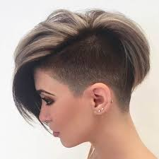 haircuts for woemen shaved one side long the other best 25 women s shaved hairstyles ideas on pinterest short