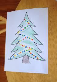 christmas tree craft using a cotton tip mum