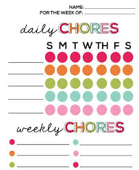 chore list template 20 free printable chore charts