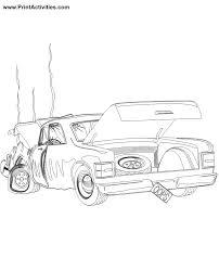 car coloring broken car