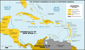 Spanish Map Of North America by File Spanish Caribbean Islands In The American Viceroyalties 1600